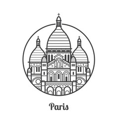 travel paris icon vector image
