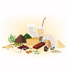 vegetarian healthy food concept set raw seeds vector image