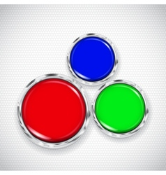 White background with small circles and buttons vector