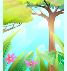 wild forest nature summer scenery background vector image