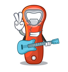 With guitar plastic bottle opener isolated on vector