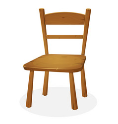 Wood kitchen seat vector