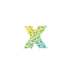 x particle letter logo icon design vector image