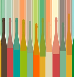 colorful bottle on background vector image vector image