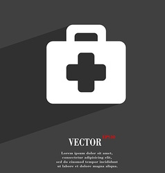 first aid kit icon symbol Flat modern web design vector image vector image