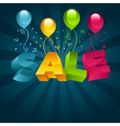 Sale with Balloons vector image vector image