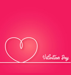 valentines card with line heart happy valentines vector image