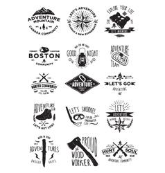 15 Adventure Activity Badges vector image vector image