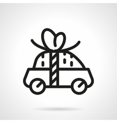 Car for free icon black line design vector image vector image