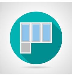Flat icon for plastic balcony doors vector image