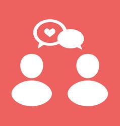people talk icon vector image
