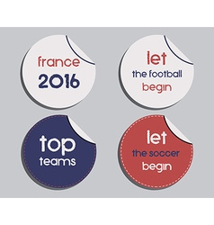 Set of unusual brand identity - France 2016 vector image
