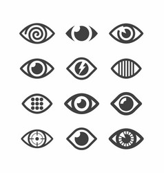 eye symbol icons vector image vector image
