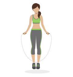 Girl with skipping rope vector