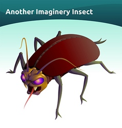 imaginary insect vector image vector image