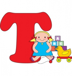 t is for toys vector image vector image