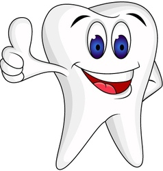 Tooth Character cartoon vector image vector image