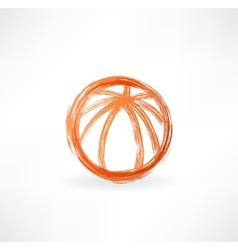 basketball ball grunge icon vector image