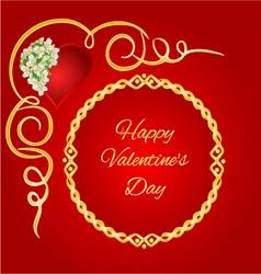 Happy valentine day frame heart with jasmine vector