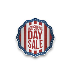 independence day sale banner in realistic style vector image