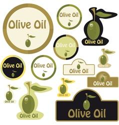 Olive oil - label vector