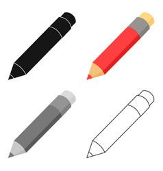 pencil icon cartoon single education icon from vector image vector image
