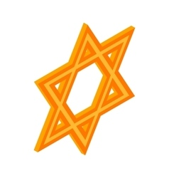 Star of David icon isometric 3d style vector image vector image