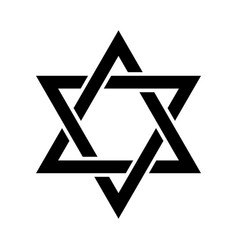 the star of david or the shield of david vector image