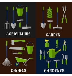 Tools for agriculture and gardening work vector image vector image