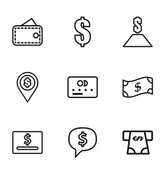 9 payment icons vector image