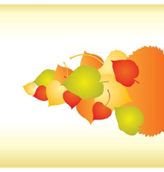 Abstract backgrounds with fall leafs vector