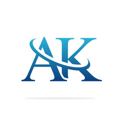 Ak logo art icon design image vector
