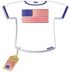American Flag T-shirt vector image vector image