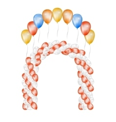 Balloons on white background vector image