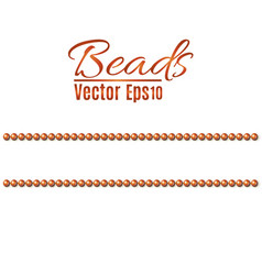 beautiful multi-colored beads string beads are vector image