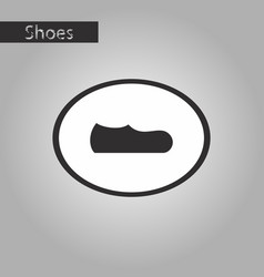 black and white style icon mans shoe vector image