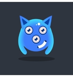 Blue Alien With Pointy Ears vector