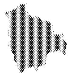 Bolivia map population demographics vector
