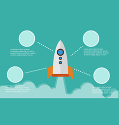 Business infographic background style with rocket vector