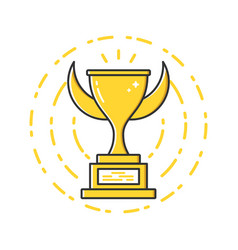 Business of gold award cup vector