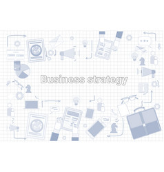 Business strategy marketing economic development vector