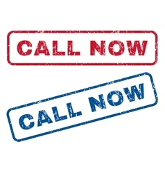 Call Now Rubber Stamps vector