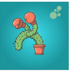 Cartoon cactus design vector