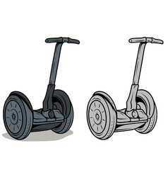 Cartoon graphic self-balancing electric scooter vector