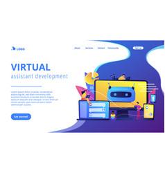 Chatbot development platformconcept landing page vector