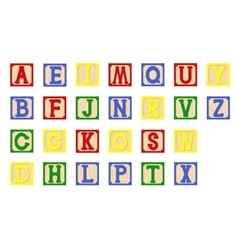 Children cubes alphabet vector image