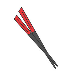 Chopsticks element isolated icon vector