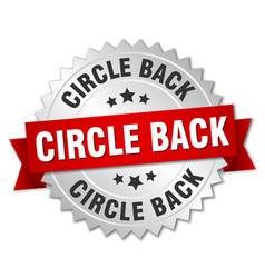 circle back round isolated silver badge vector image