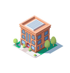 City mid rise building vector