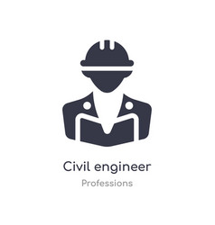 Civil engineer icon isolated civil engineer icon vector